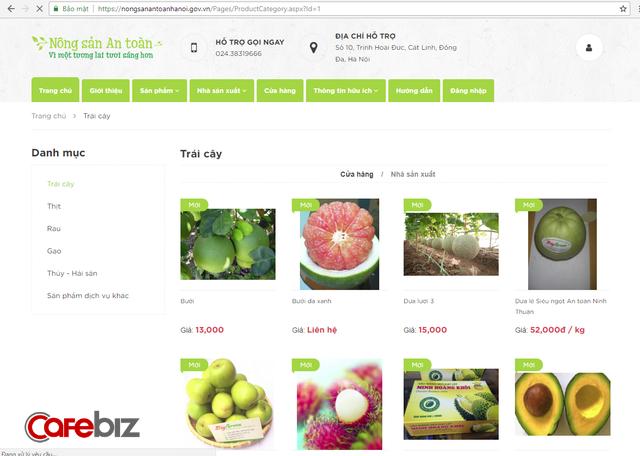 Người Hà Nội đã có website chính thức trình làng nông sản an toàn - Ảnh 1.