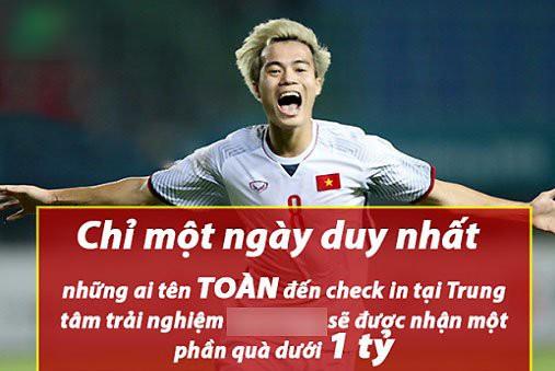 Ăn theo U23 Việt Nam, phân khúc công nghệ, xe hơi đua khuyến mãi cho người tên Toàn, Đức, Dũng, Hải - Ảnh 1.