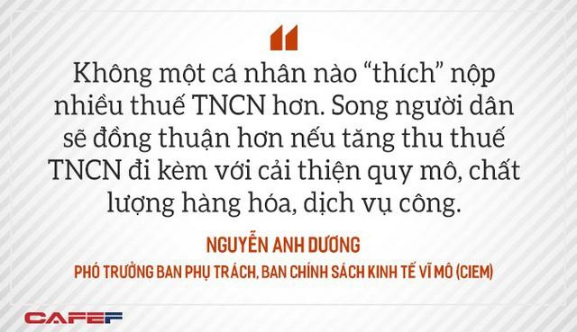 Chuyên gia CIEM: Phương án tăng thuế TNCN của Bộ Tài chính không tác động nhiều đến người lao động, nhưng cộng hưởng với VAT, BHXH lại là câu chuyện khác - Ảnh 3.
