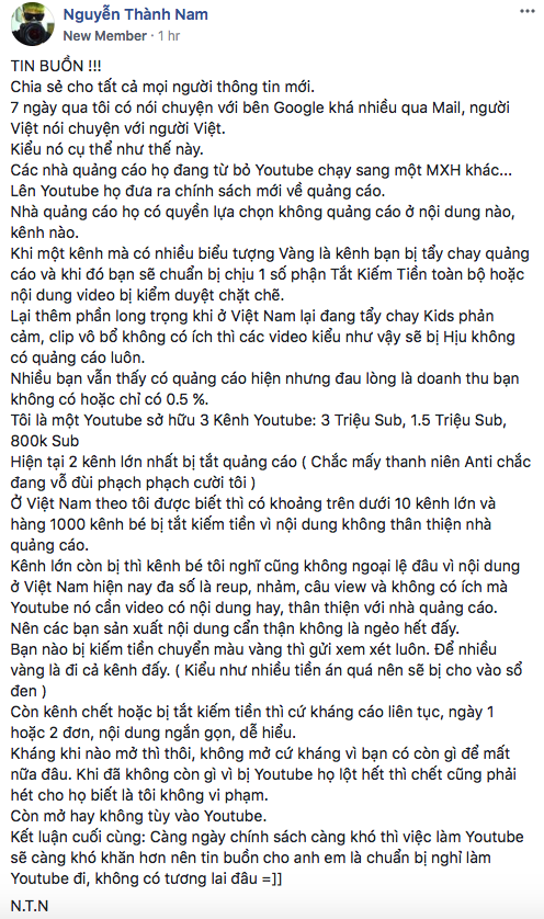 YouTuber top 3 Việt Nam tiết lộ: Clip triệu view vẫn có thể không được kiếm tiền dù chưa vi phạm gì - Ảnh 3.