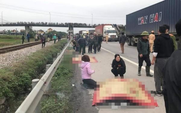 Nhân chứng bàng hoàng kể lại giây phút xe tải tông 8 cán bộ tử vong: Nếu không kịp nhảy qua lan can thì số người chết còn nhiều hơn - Ảnh 1.