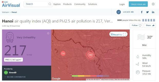 Hà Nội có chỉ số ô nhiễm cao nhất thế giới, Tổng thư ký Hội Hô hấp VN khuyến cáo: Những người đã mắc bệnh về hô hấp không nên ra ngoài  - Ảnh 1.