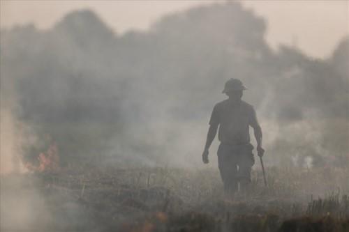 Khói đốt rơm rạ đang bủa vây ngoại thành Hà Nội - Ảnh 5.