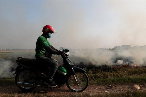 Khói đốt rơm rạ đang bủa vây ngoại thành Hà Nội - Ảnh 6.