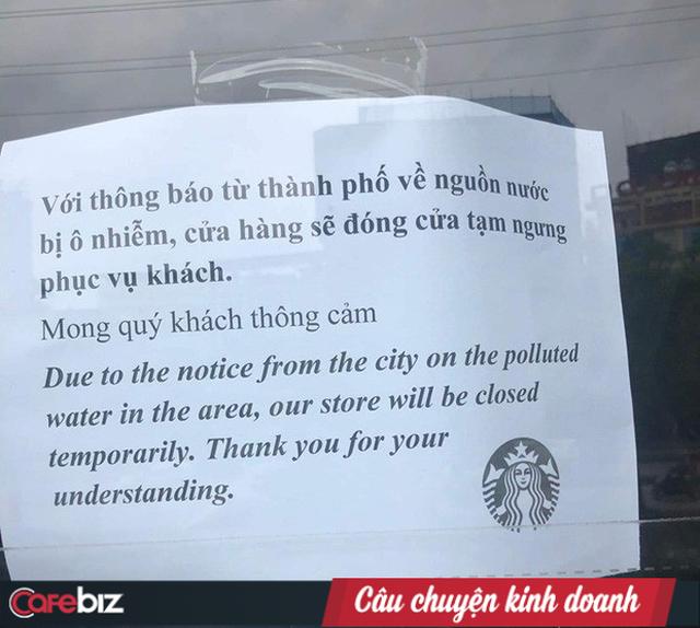 Starbucks đóng 8/18 cửa hàng tại Hà Nội vì lo nguồn nước không an toàn, chưa thể hẹn ngày mở lại - Ảnh 1.