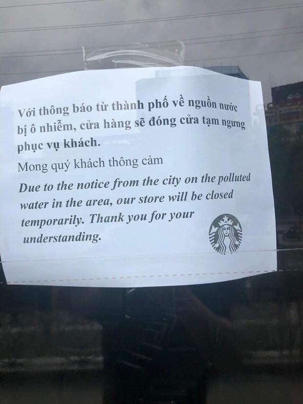 Nóng: Ô nhiễm nguồn nước, một cửa hàng Starbucks ở Hà Nội phải tạm đóng cửa, chưa hẹn ngày quay trở lại - Ảnh 2.