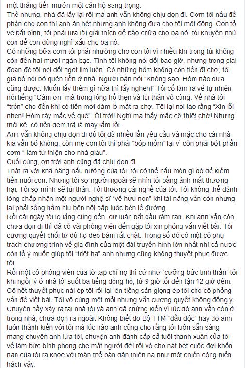 NS Xuân Hương tung chương cuối tự truyện về Thanh Bạch: Anh đã liên tục dùng những đòn tấn công đê tiện nhằm triệt đường sống của tôi - Ảnh 5.