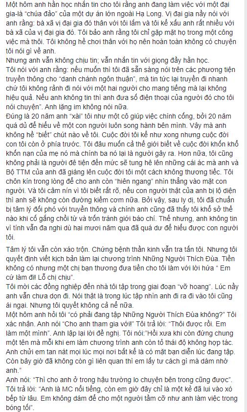 NS Xuân Hương tung chương cuối tự truyện về Thanh Bạch: Anh đã liên tục dùng những đòn tấn công đê tiện nhằm triệt đường sống của tôi - Ảnh 6.