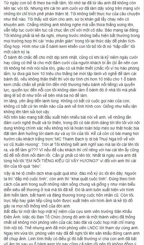 NS Xuân Hương tung chương cuối tự truyện về Thanh Bạch: Anh đã liên tục dùng những đòn tấn công đê tiện nhằm triệt đường sống của tôi - Ảnh 8.
