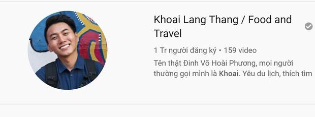 Travel blogger Khoai Lang Thang chính thức đạt 1 triệu người đăng kí kênh trên Youtube - Ảnh 2.