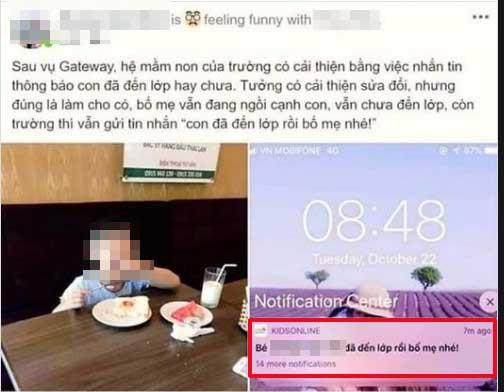Đang ngồi ăn sáng cùng con, bố bất ngờ nhận tin nhắn thông báo từ trường Sakura - cùng hệ thống Gateway: Con đã đến lớp rồi bố mẹ nhé - Ảnh 1.