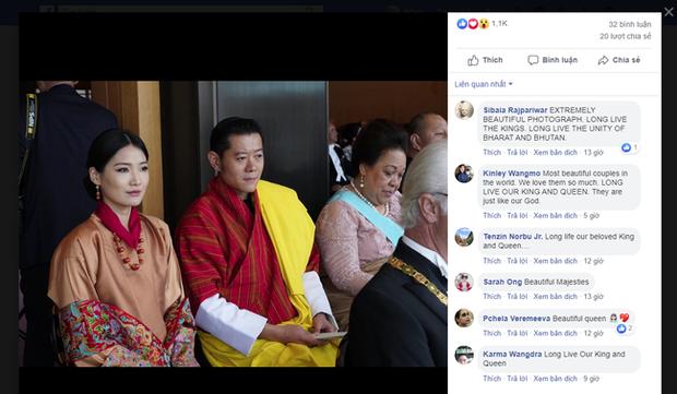 Cộng đồng mạng phát sốt với vẻ đẹp thoát tục không góc chết của Hoàng hậu Bhutan ở Nhật Bản khi tham dự lễ đăng quang - Ảnh 9.