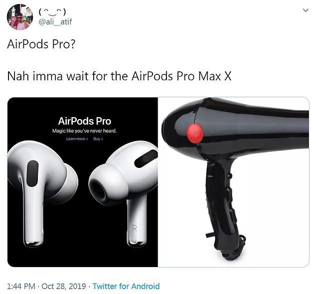 Vừa mới ra mắt, tai nghe Airpods Pro đã trở thành nguồn cảm hứng chế ảnh buồn cười đau cả bụng - Ảnh 2.