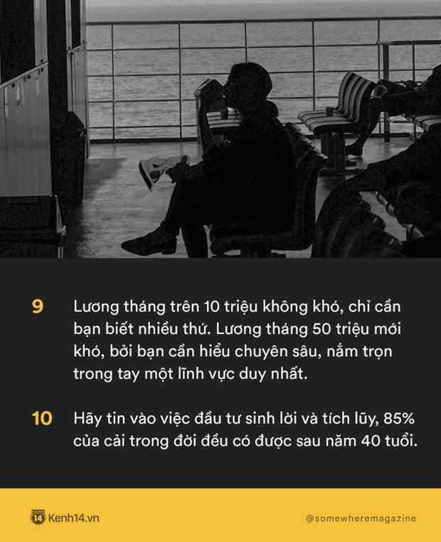 20 bài học mà năm 20 tuổi bạn buộc phải biết: Dù thực dụng nhưng kiếm tiền là cách để bảo vệ người bạn yêu thương! - Ảnh 5.