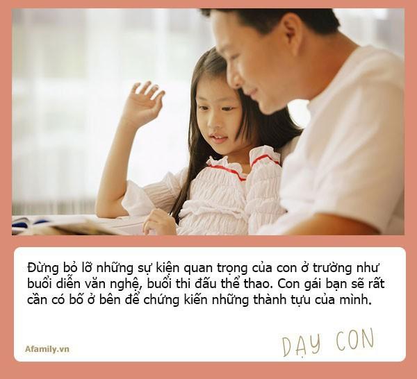 Muốn con gái một đời bình an, tất cả các ông bố hãy dạy con 10 bài học đắt giá hơn vàng này - Ảnh 2.