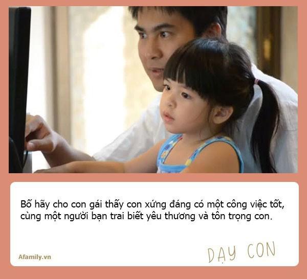 Muốn con gái một đời bình an, tất cả các ông bố hãy dạy con 10 bài học đắt giá hơn vàng này - Ảnh 6.