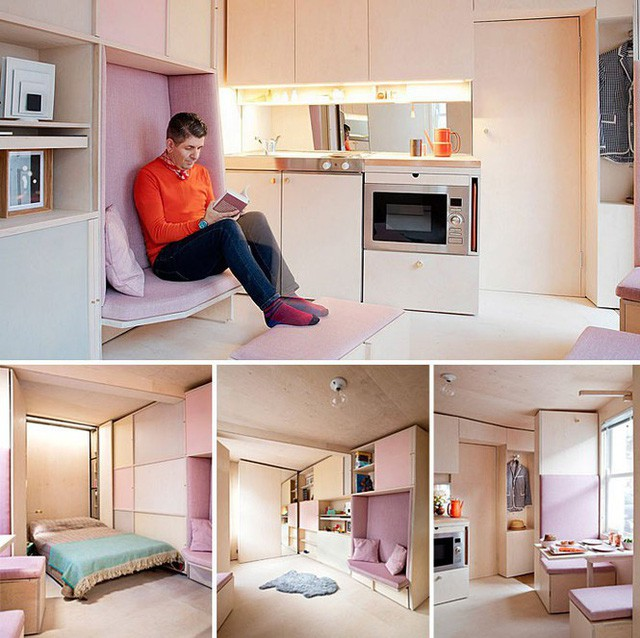 Những căn hộ siêu nhỏ, cực chất nhìn mê liền nhờ thiết kế thông minh - Ảnh 4.