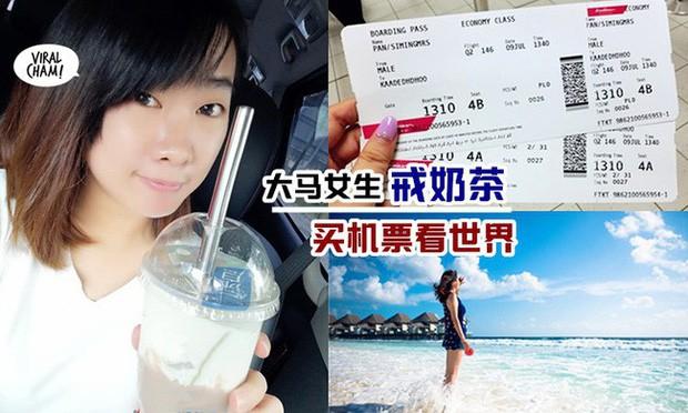 Bỏ uống trà sữa trong 4 tháng, cô gái gom đủ tiền mua vé máy bay đi du lịch nước ngoài - Ảnh 2.