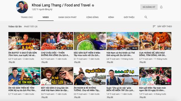 """Cuộc chiến đọ view giữa các kênh du lịch - ẩm thực hot nhất hiện nay: Khoa Pug, Bà Tân cũng phải """"chào thua"""" trước YouTuber này! - Ảnh 2."""
