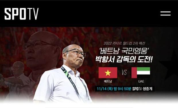 Dự đoán rating cao, đài truyền hình Hàn Quốc trực tiếp trận Việt Nam – UAE - Ảnh 1.