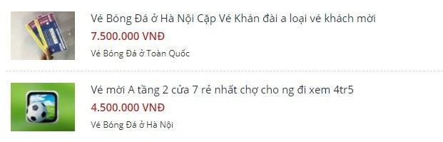 Vé xem Việt Nam vs Thái Lanbị hét giá...trên trời - Ảnh 1.