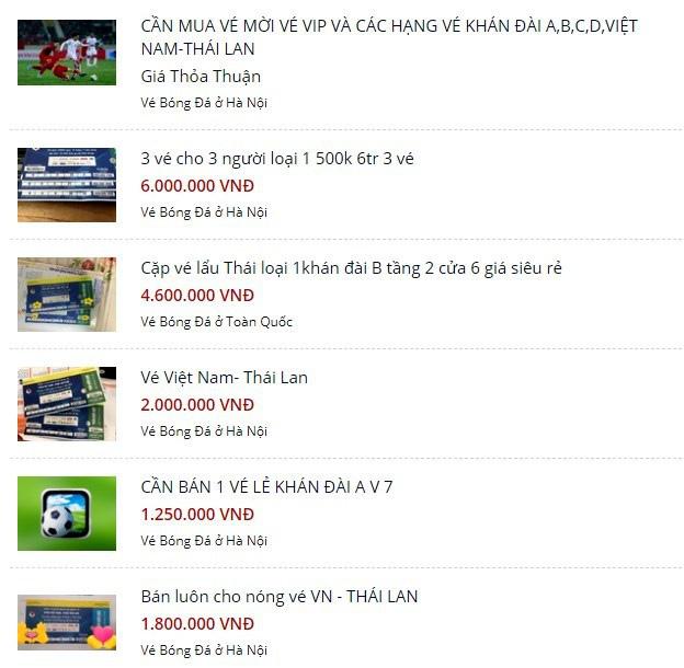 Vé xem Việt Nam vs Thái Lanbị hét giá...trên trời - Ảnh 2.