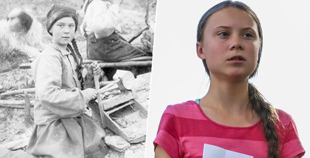Dân mạng xôn xao khi Greta Thunberg xuất hiện trong bức hình từ cách đây 120 năm: Tấm hình có thật 100%, phải chăng cô bé có thể xuyên không? - Ảnh 3.