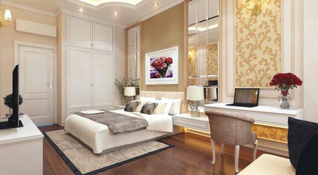 Nhà 1 trệt 1 lầu phong cách cổ điển đẹp sang trọng - Ảnh 2.