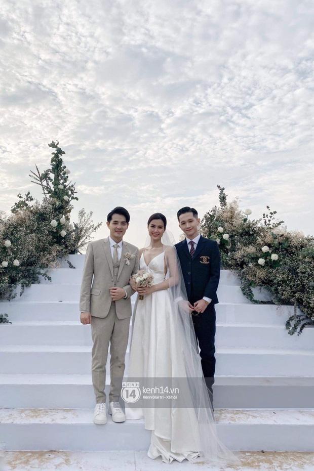 Cập nhật: 200 sao Việt xúng xính váy áo dự đám cưới đẹp như mơ của Đông Nhi - Ông Cao Thắng - Ảnh 2.
