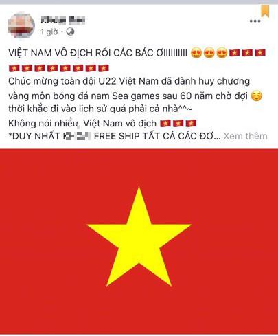 Hàng quán đua nhau giảm giá ăn mừng đội tuyển bóng đá Việt Nam giành huy chương vàng SEA Games - Ảnh 4.