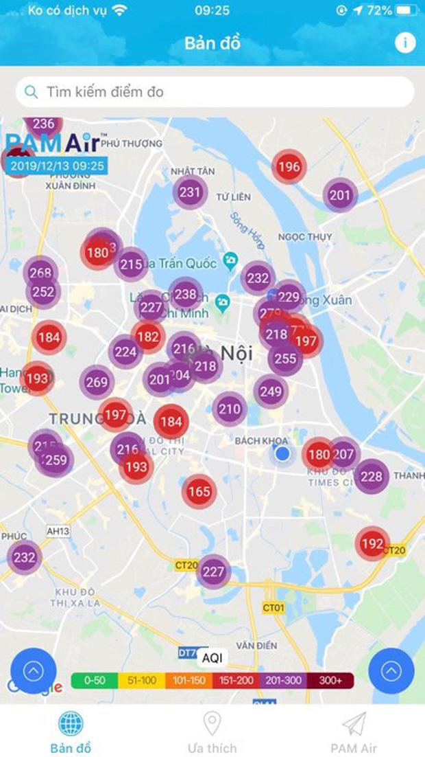 Không khí Hà Nội tiếp tục ở mức ô nhiễm nặng, rất có hại cho sức khỏe - Ảnh 4.