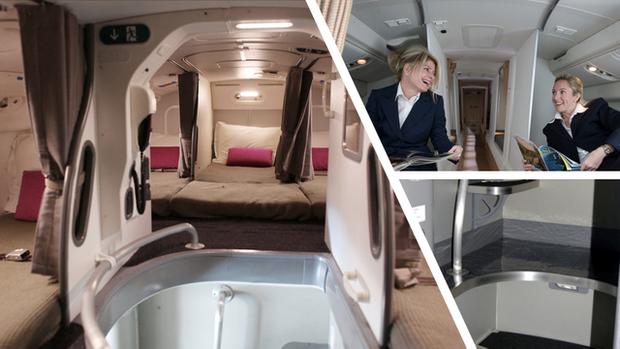 Hoá ra trên máy bay có phòng ngủ riêng cho phi công và tiếp viên: phải đi vào bằng lối bí mật, độ rộng - hẹp thì còn tuỳ - Ảnh 1.