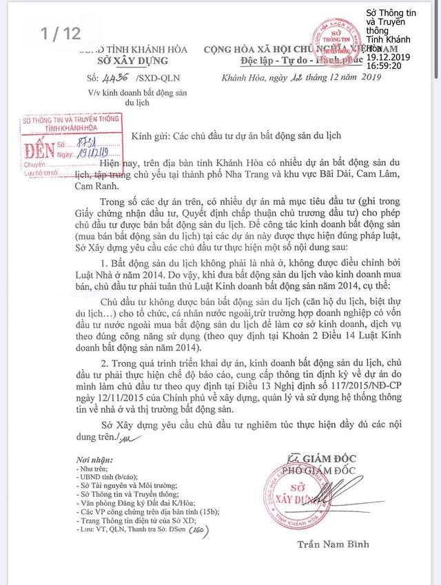 Danh sách gần 130 dự án bất động sản du lịch tại Khánh Hoà không được phép bán cho người nước ngoài - Ảnh 1.