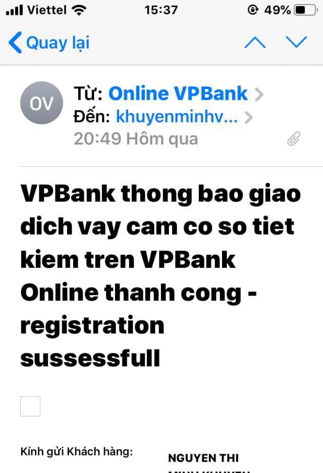 Vụ khách hàng VPBank 2 phút mất 11 triệu đồng: Cần thêm bằng chứng để làm rõ - Ảnh 1.