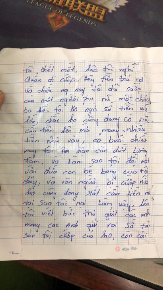 Tên cướp bí ẩn gửi trả 100 triệu đồng cùng thư xin lỗi - Ảnh 3.