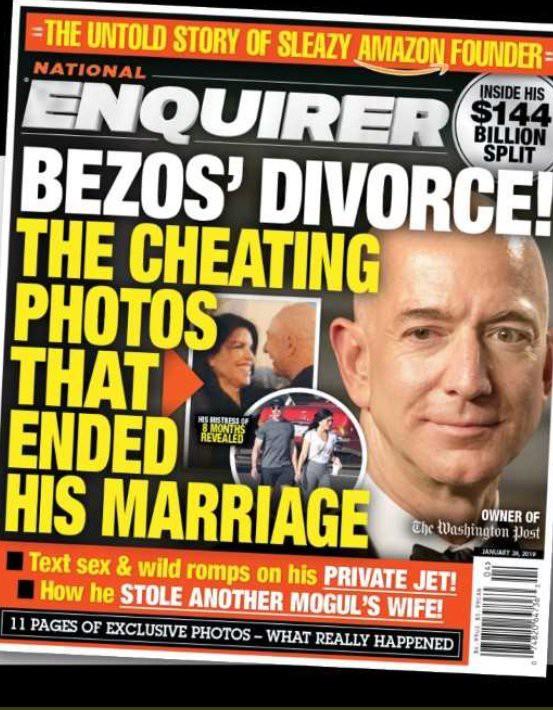 Bị dọa tung ảnh nóng lên mặt báo, tỷ phú công nghệ Jeff Bezos phản ứng thế nào? - Ảnh 1.