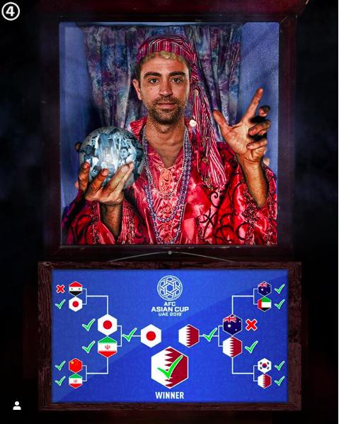 Ngả mũ kính phục tài dự đoán như thần của siêu tiền vệ Xavi, người đoán chính xác suốt từ tứ kết đến chung kết Asian Cup - Ảnh 2.