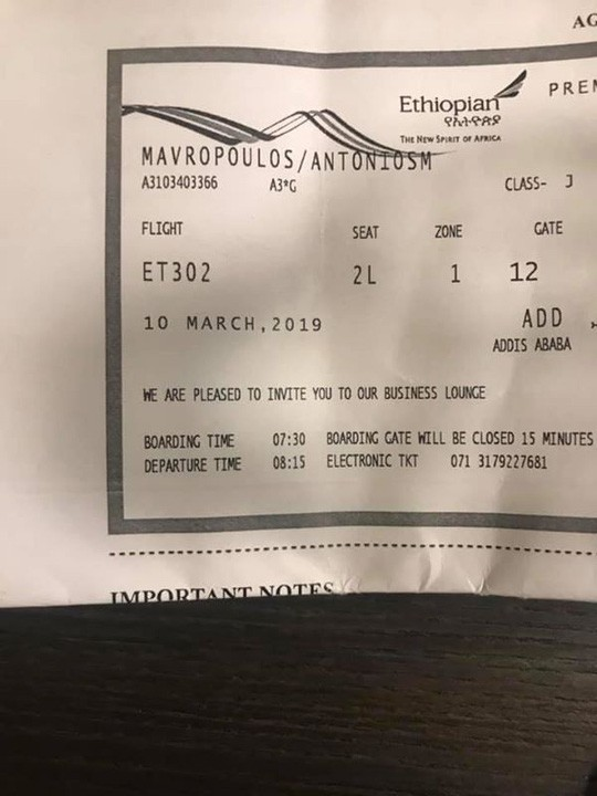 Rơi máy bay ở Ethiopia: Thoát chết vì tới trễ 2 phút  - Ảnh 2.