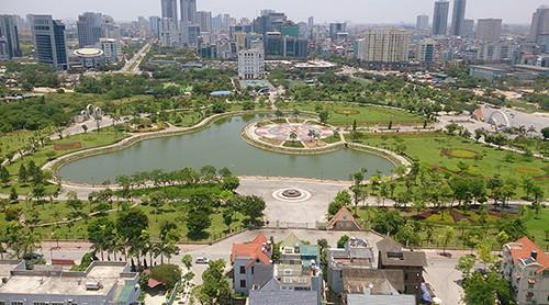 Hà Nội muốn xén 1/10 diện tích công viên Cầu Giấy để làm bãi đỗ xe, trung tâm thương mại - Ảnh 1.