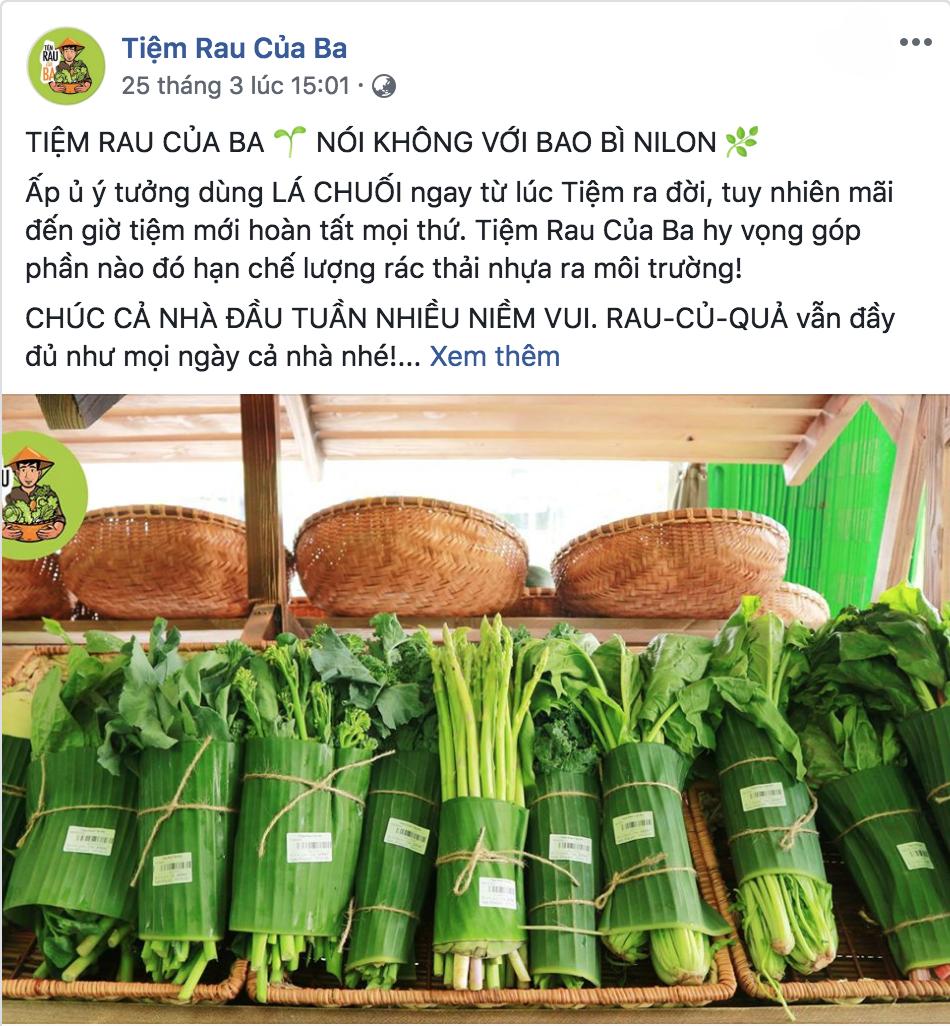 chiến dịch hạn chế túi nilon - photo 1 15538443437061481542128 - Sau Chiang Mai, các cửa hàng rau ở Việt Nam cũng bắt đầu chiến dịch hạn chế túi nilon