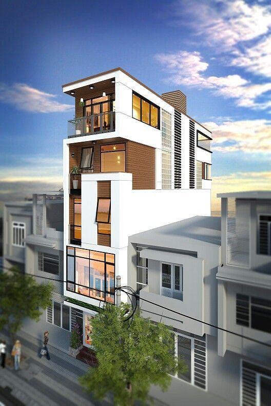 Mê mẩn những kiểu nhà phố lệch tầng đẹp, phá cách - Ảnh 2.