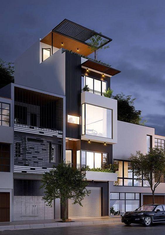 Mê mẩn những kiểu nhà phố lệch tầng đẹp, phá cách - Ảnh 3.