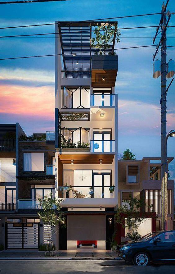 Mê mẩn những kiểu nhà phố lệch tầng đẹp, phá cách - Ảnh 5.