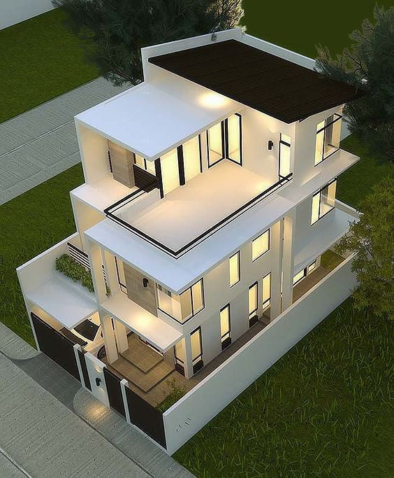 Mê mẩn những kiểu nhà phố lệch tầng đẹp, phá cách - Ảnh 1.