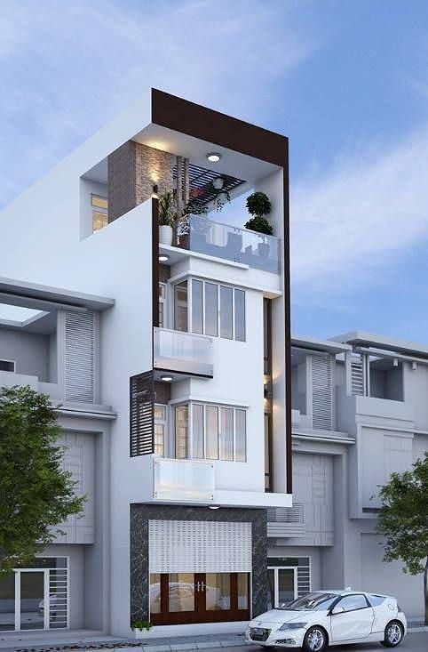 Mê mẩn những kiểu nhà phố lệch tầng đẹp, phá cách - Ảnh 6.