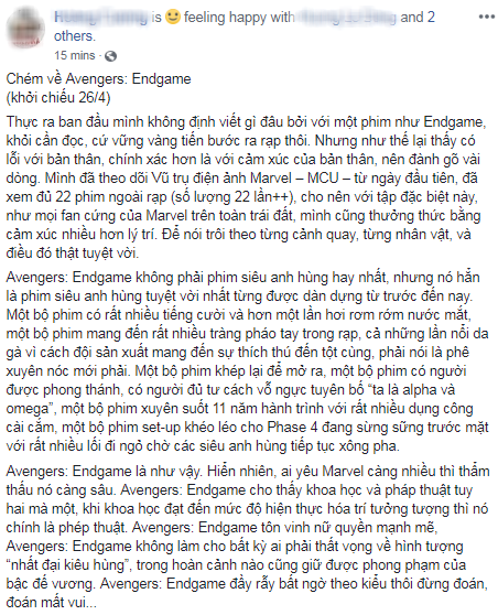 Khán giả Việt xúc động sững sờ, phấn khích tột độ sau suất chiếu ENDGAME đầu tiên - Ảnh 14.