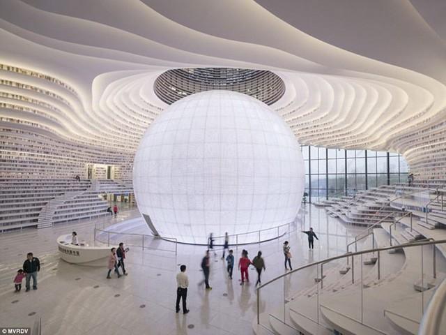 """thư viện tân hải - photo 10 15562483194551850134931 - Choáng ngợp với vẻ đẹp của thư viện """"quốc dân"""" lớn nhất Trung Quốc: Hoành tráng đến mức nhìn không thua gì phim trường!"""