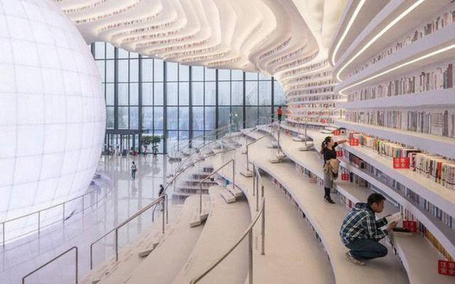"""thư viện tân hải - photo 5 15562483194441116605764 - Choáng ngợp với vẻ đẹp của thư viện """"quốc dân"""" lớn nhất Trung Quốc: Hoành tráng đến mức nhìn không thua gì phim trường!"""