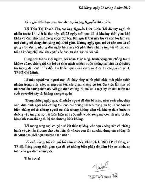 Vợ Nguyễn Hữu Linh: Sự việc là bản án chung thân đối với gia đình chúng tôi! - Ảnh 2.