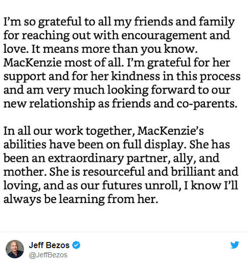 Tỷ phú Jeff Bezos biết ơn vợ cũ vì đồng ý với tỷ lệ cổ phiếu 75:25 và nhường lại quyền bỏ phiếu tại Amazon, Blue Origin - Ảnh 3.